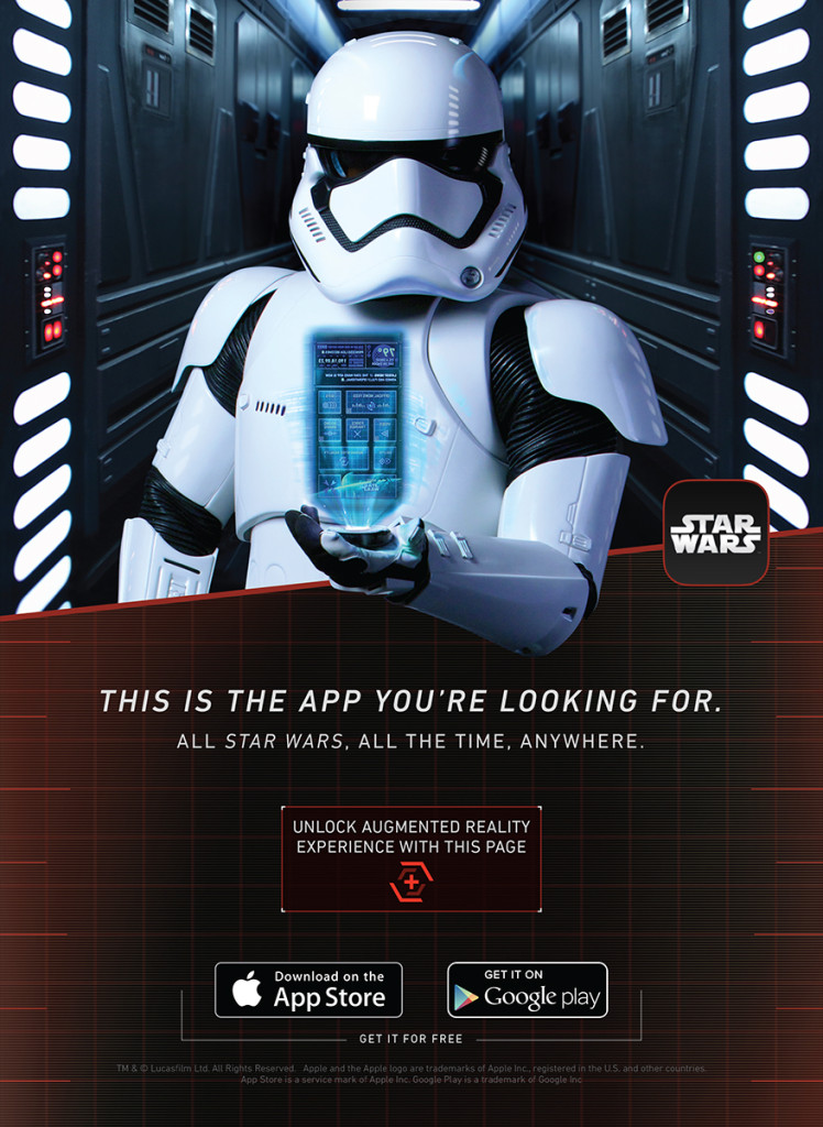 Star Wars App - augmented reality poster