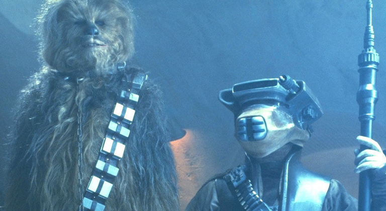 Boushh and Chewbacca in Return of the Jedi
