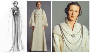 Mon Mothma inRevenge of the Sith, from concept art to costumes.