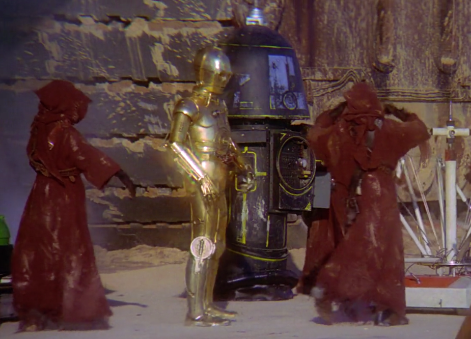 C-3PO and Jawas