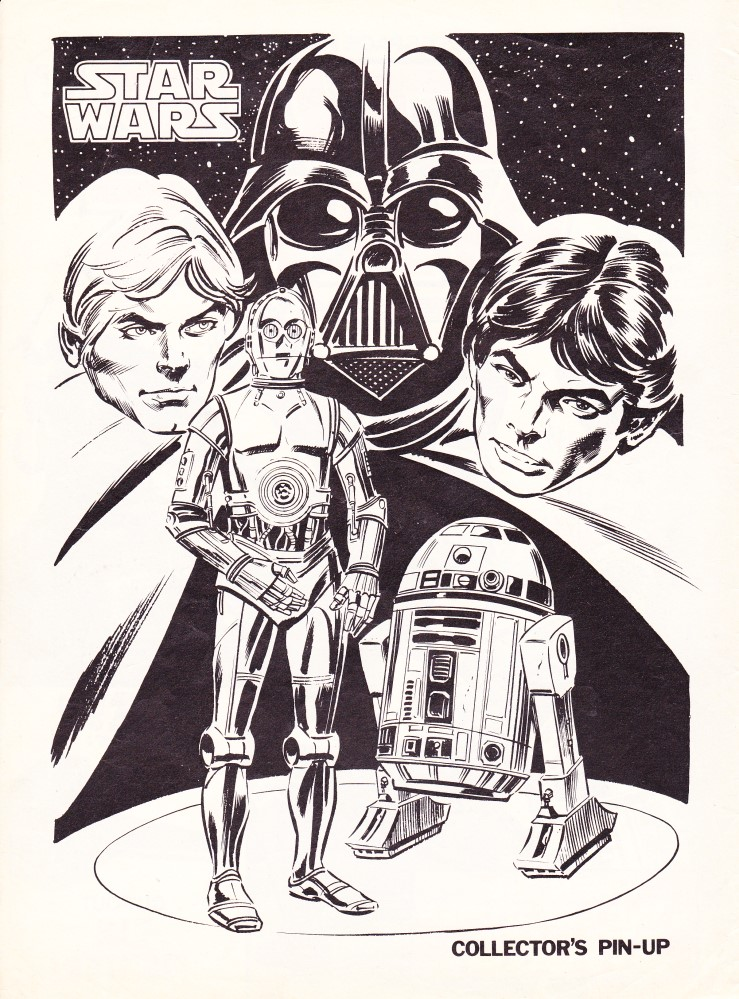 UK Star Wars Weekly - collector's pin-up