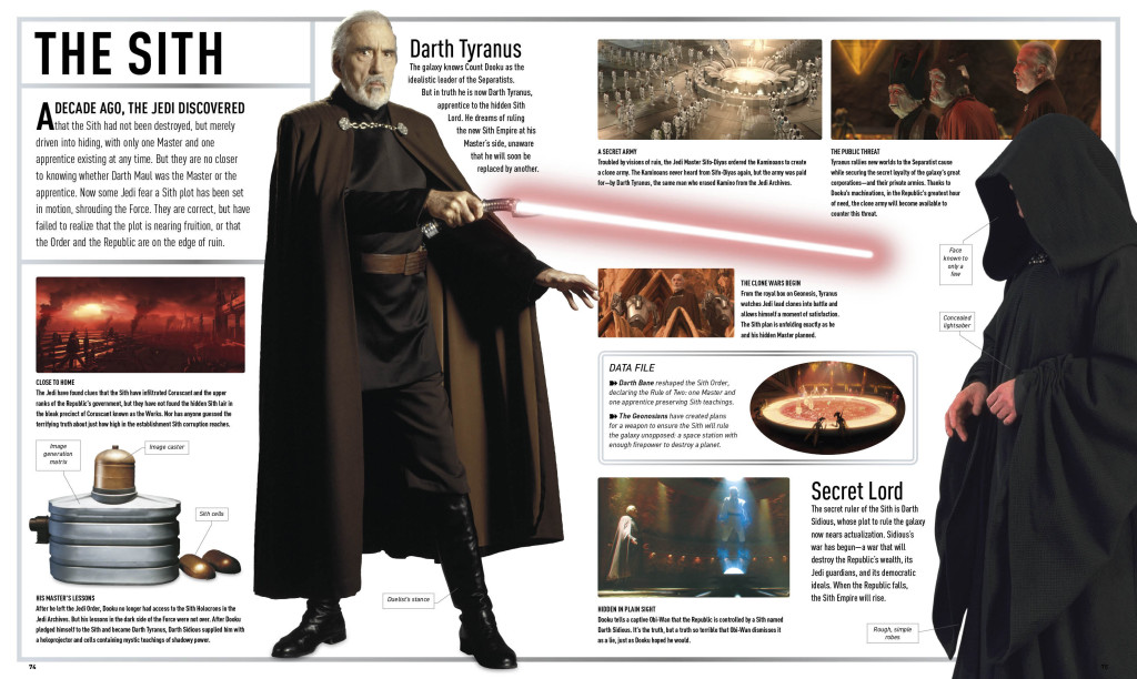 Star Wars Attack of the Clones: The Visual Dictionary - Sith