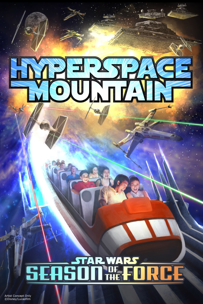 Hyperspace Mountain Attraction Poster