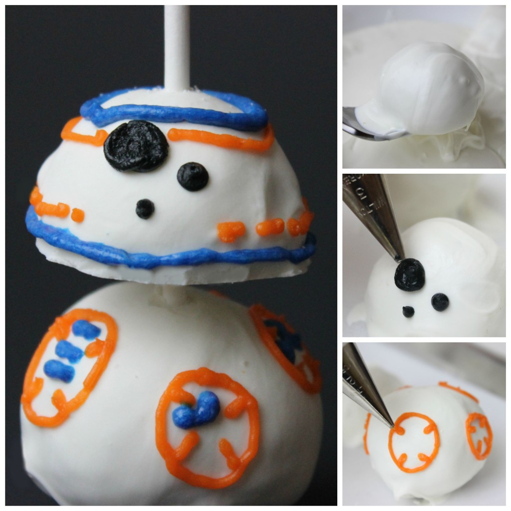 The process of making a BB-8 donut