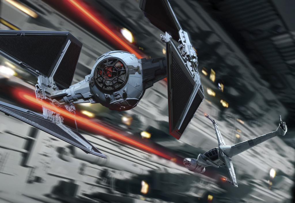 B-wing and TIE interceptor from Blade Squadron