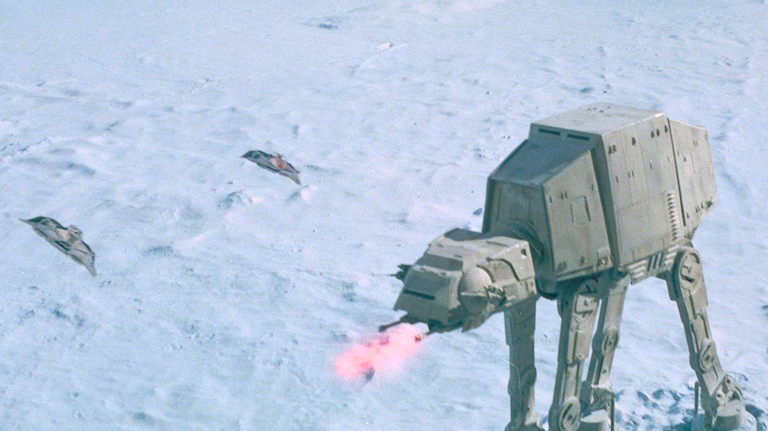 AT-AT assault on Hoth