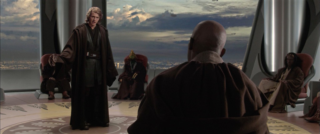 Anakin and the Jedi Council in Revenge of the Sith