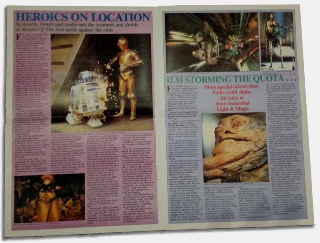 Return of the Jedi poster magazine - Heroes on location