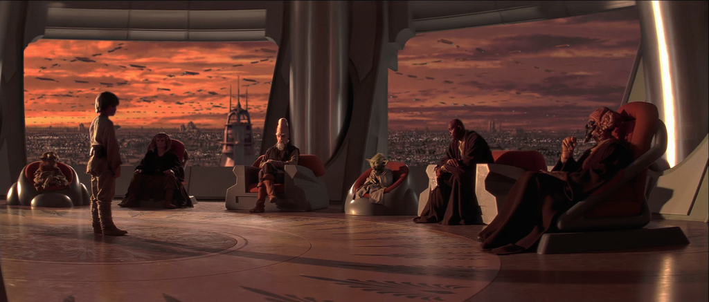 Anakin and the Jedi Council in The Phantom Menace