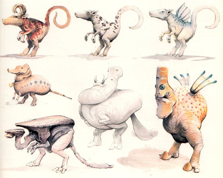 Creature concepts from the Star Wars Trilogy Special Edition