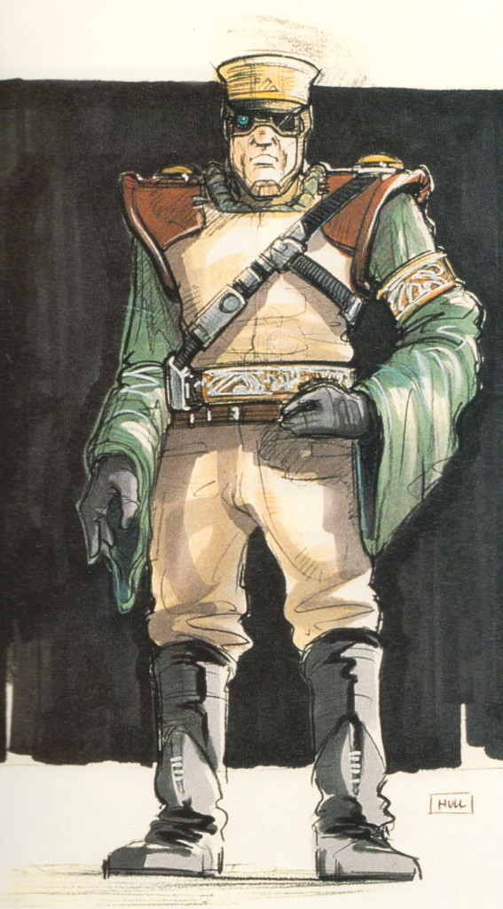 Jabba's bodyguard concept art from the Star Wars Trilogy Special Edition
