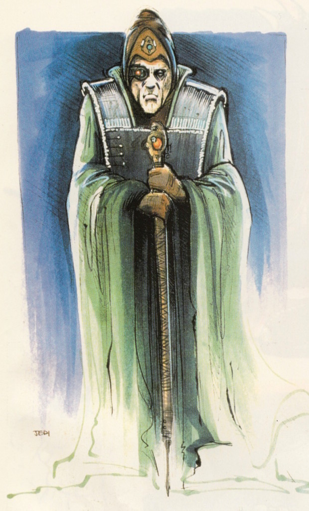 Priest concept art from the Star Wars Trilogy Special Edition