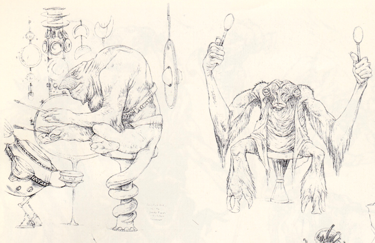 Drummer concept art from Return of the Jedi: Special Edition