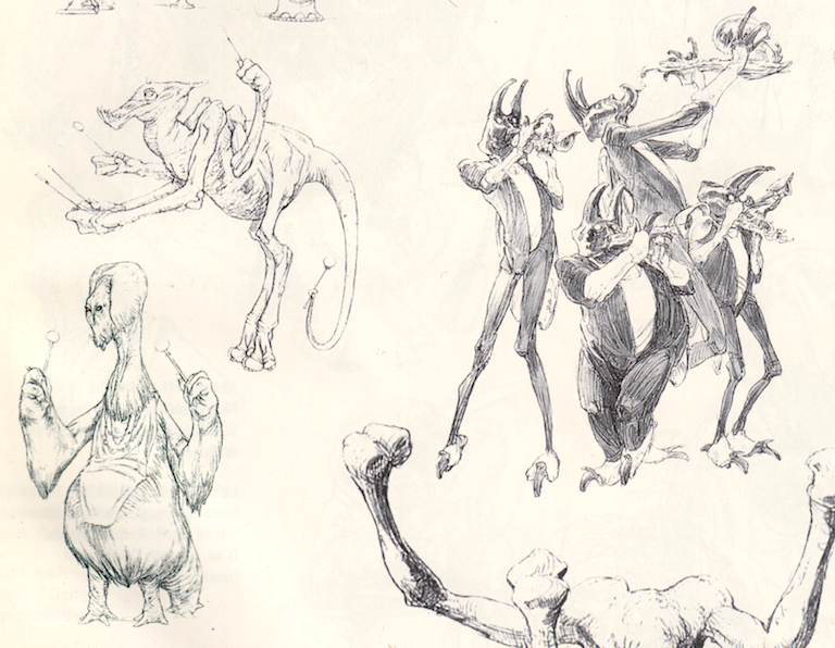 Band concept art from Return of the Jedi: Special Edition