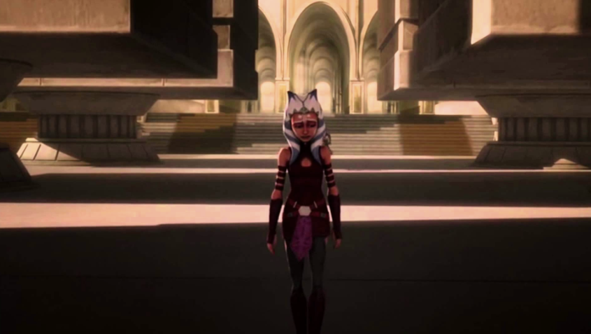 Ahsoka Tano leaves the Jedi Temple