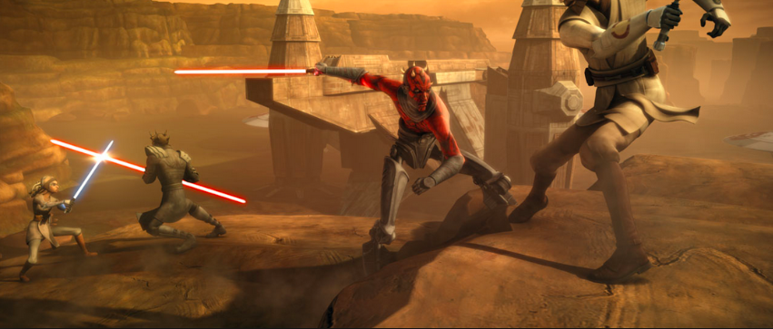 Darth Maul and Savage Opress vs. Obi-Wan Kenobi