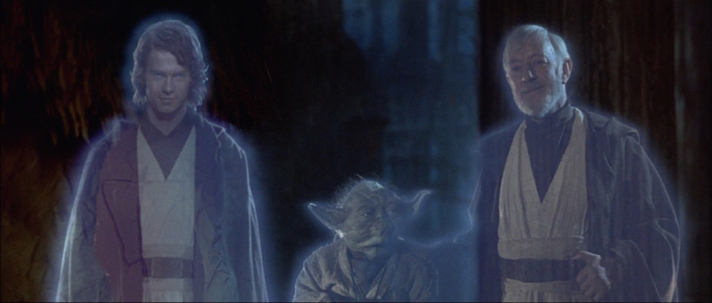 Return of the Jedi - spirits of Anakin Obi-Wan, and Yoda