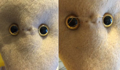 Salacious Crumb hat - eyes