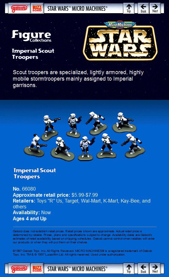 Star Wars Micro Machine Scout Troopers