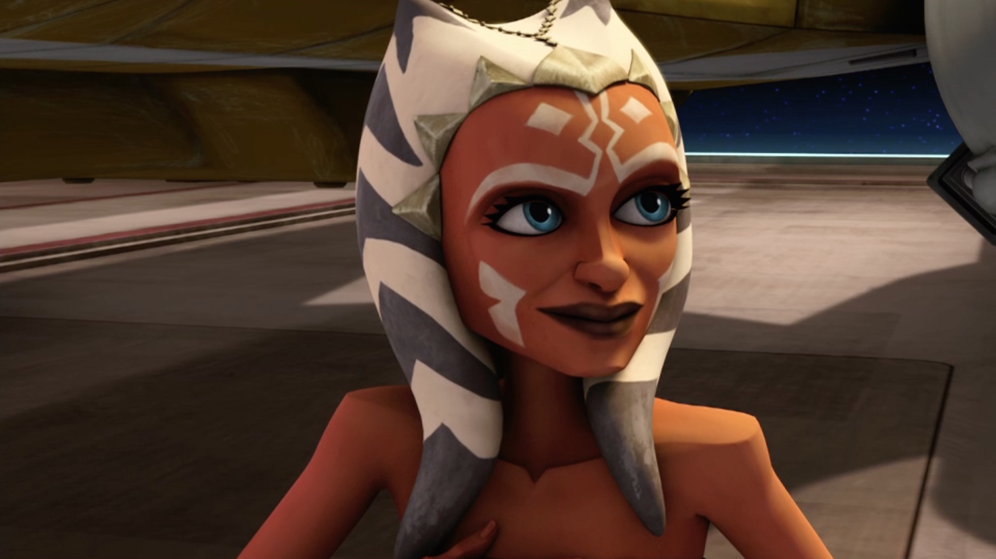 Ahsoka from star wars breast expansion exploited beauty chick