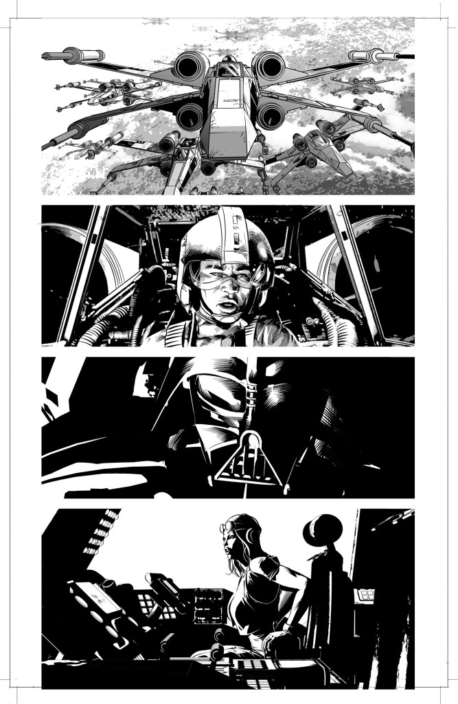 Vader Down art by Mike Deodato
