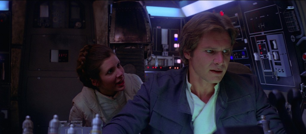 Episode V - Leia and Han on the Millennium Falcon