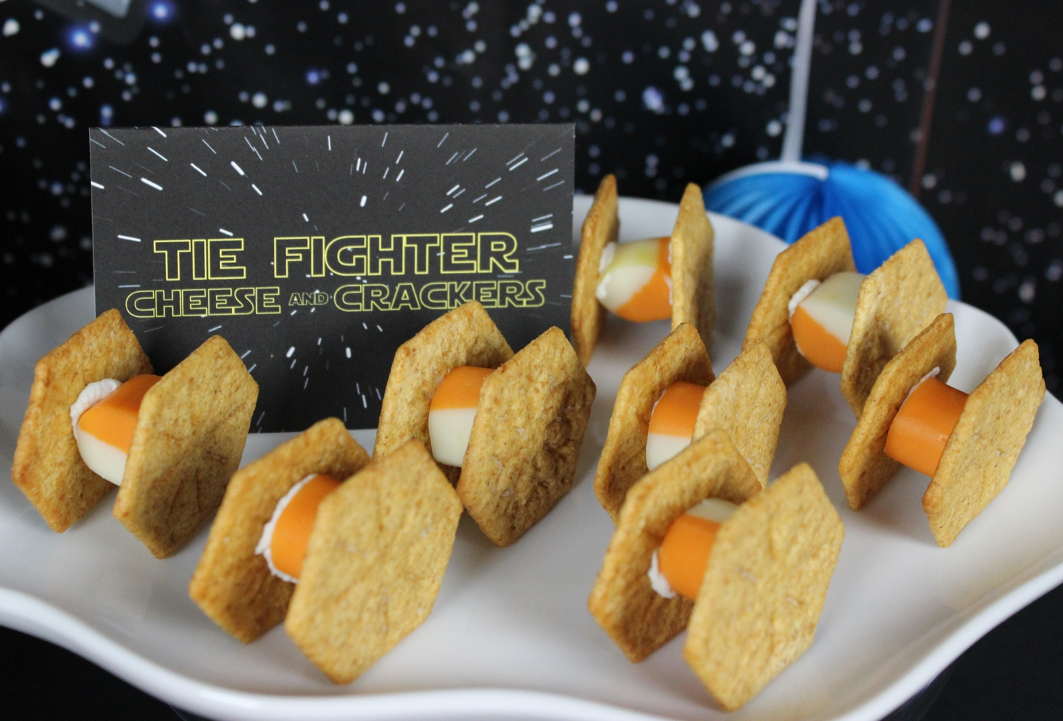 TFA party - TIE Fighter Cheese and Crackers