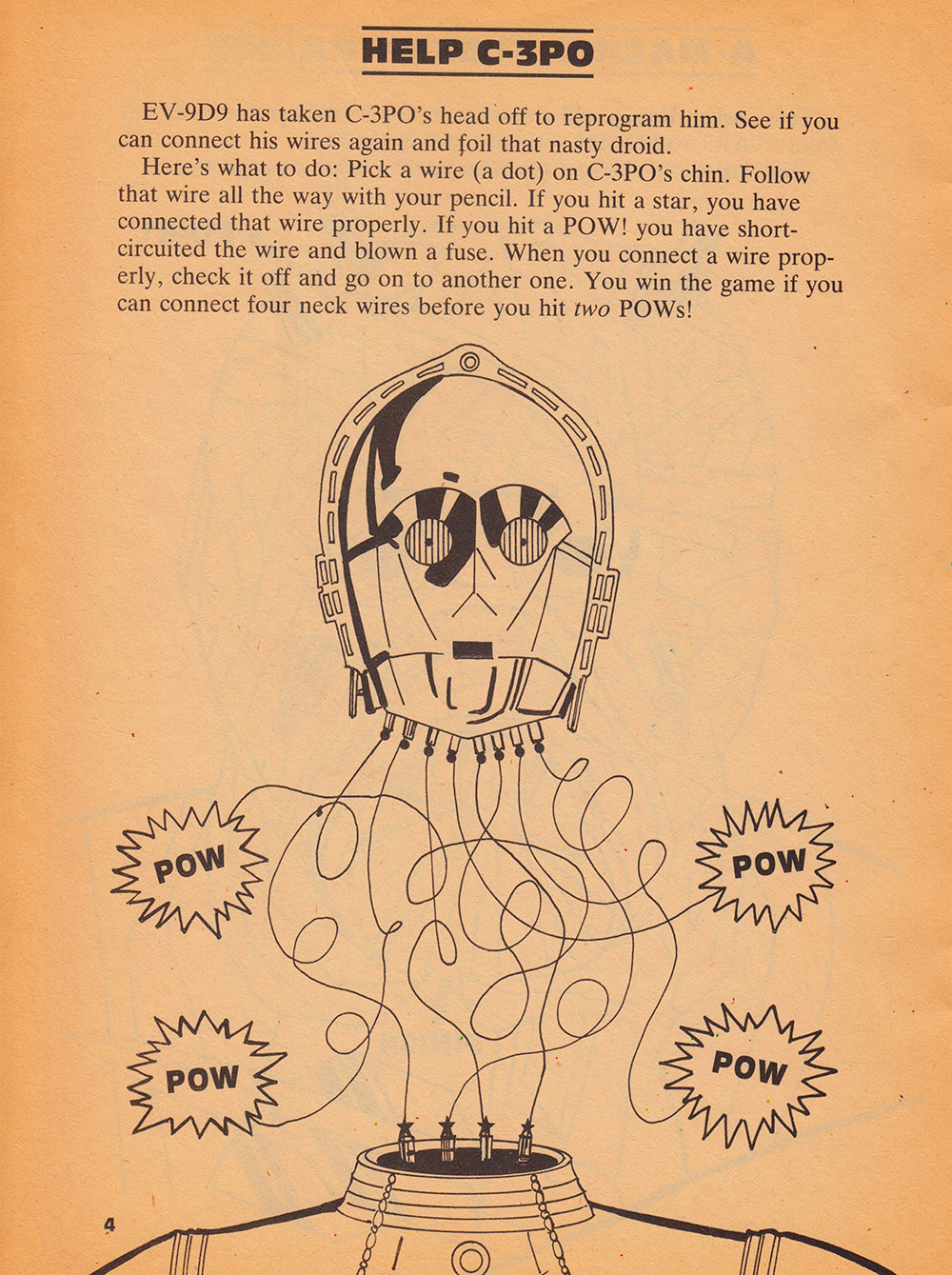 Return of the Jedi - Things to Do and Make A-Mazing Help C-3PO