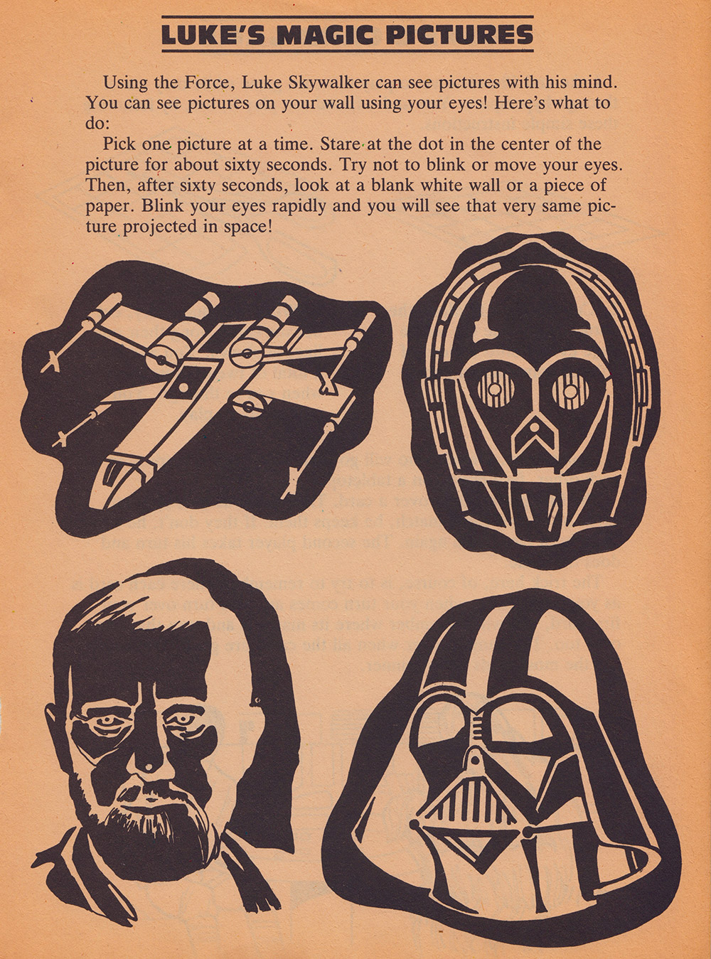 Return of the Jedi - Things to Do and Make Luke's Magic Pictures