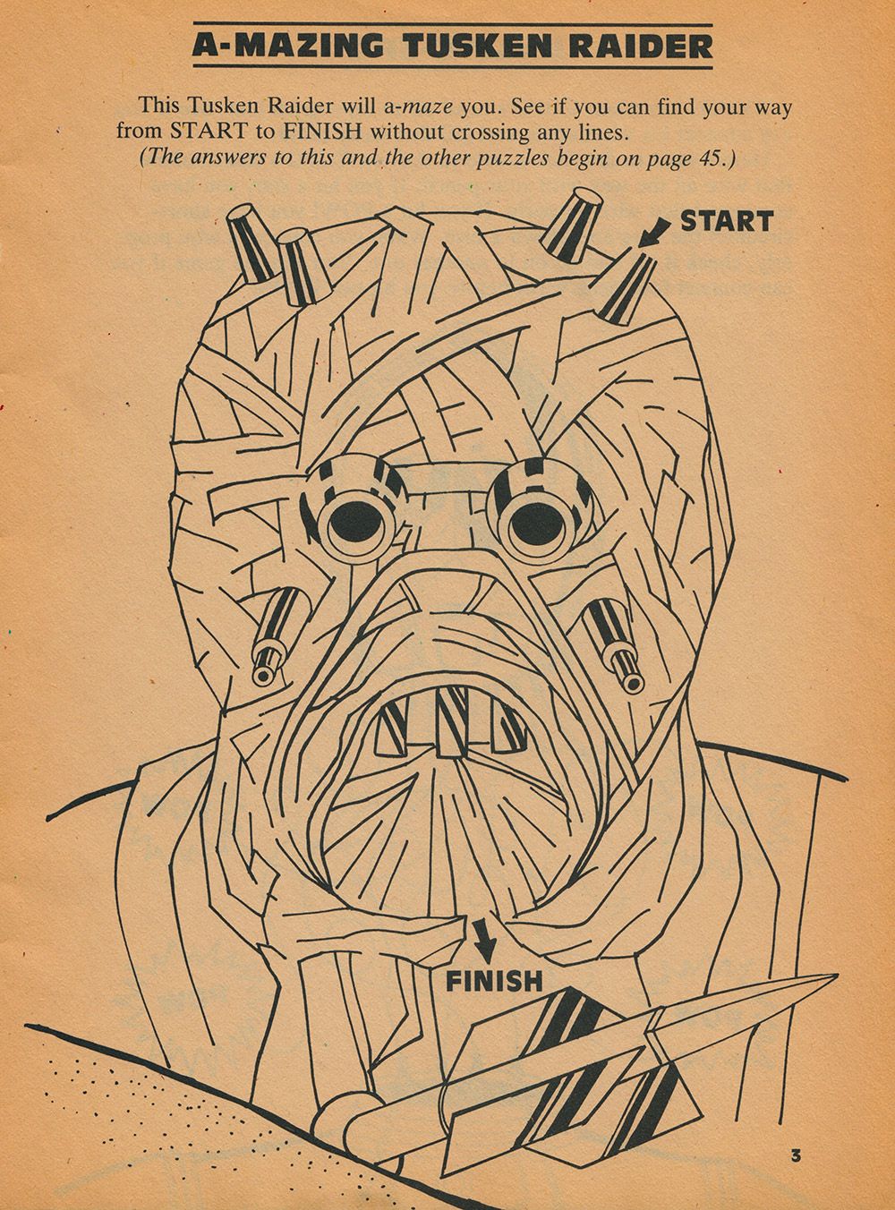 Return of the Jedi - Things to Do and Make A-Mazing Tusken Raider