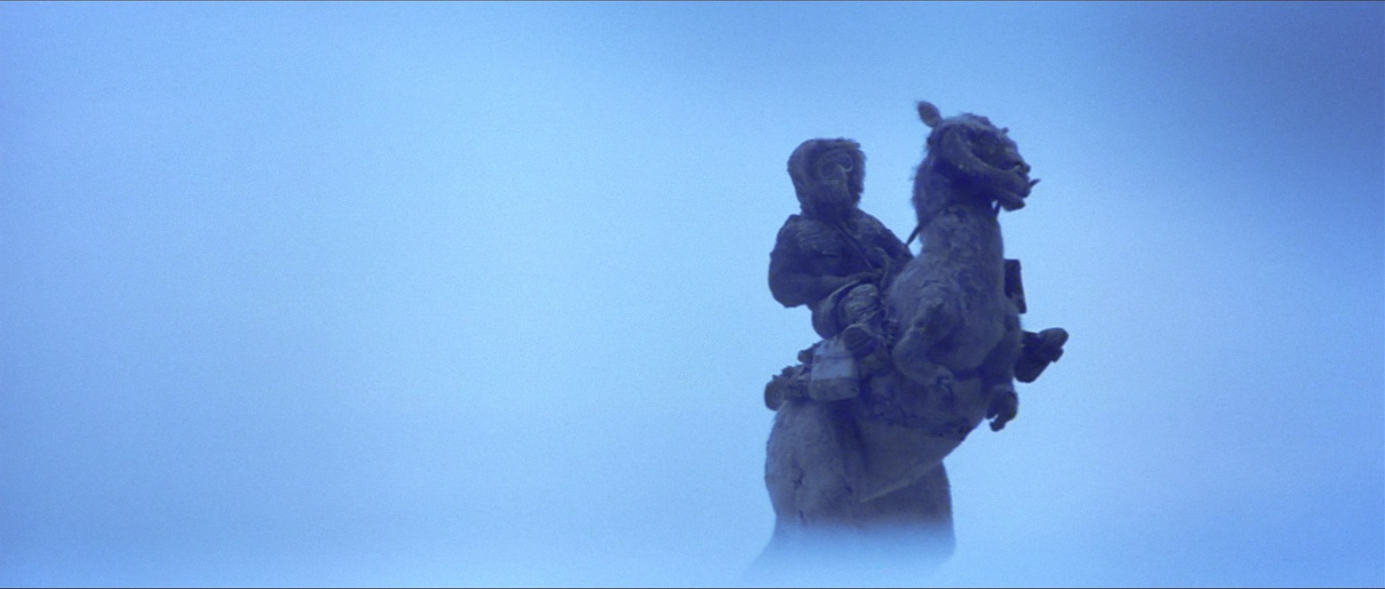 The Empire Strikes Back - Han riding a Tauntaun on Hoth
