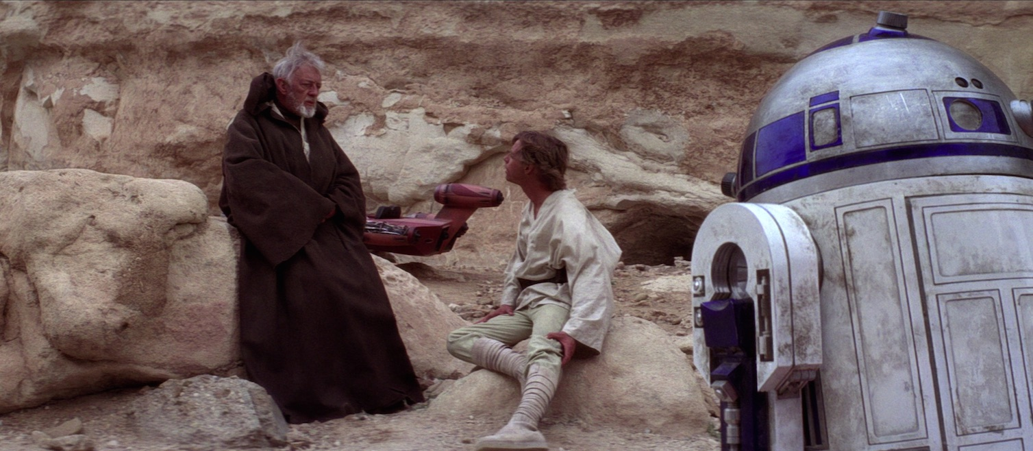 A New Hope - Luke, Obi-Wan, R2-D2 on Tatooine