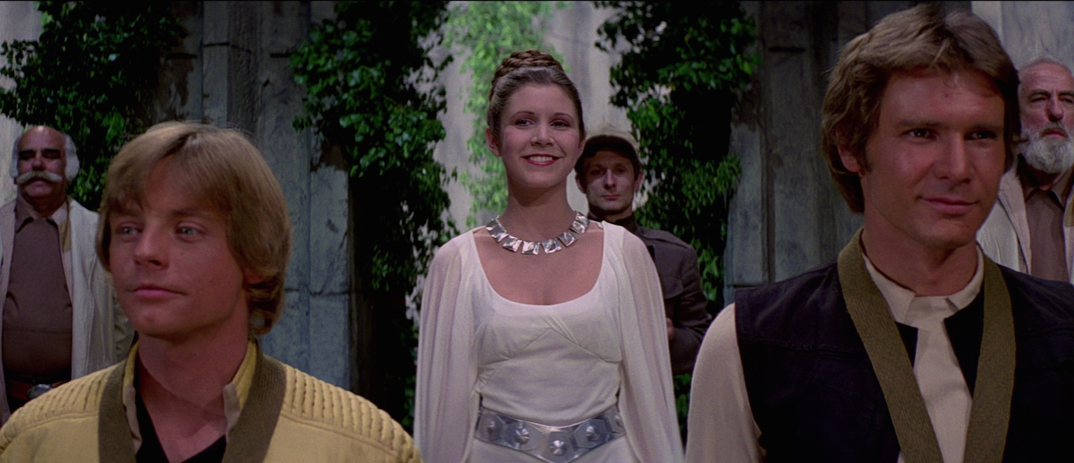 A New Hope - Luke, Leia, Han at medal ceremony