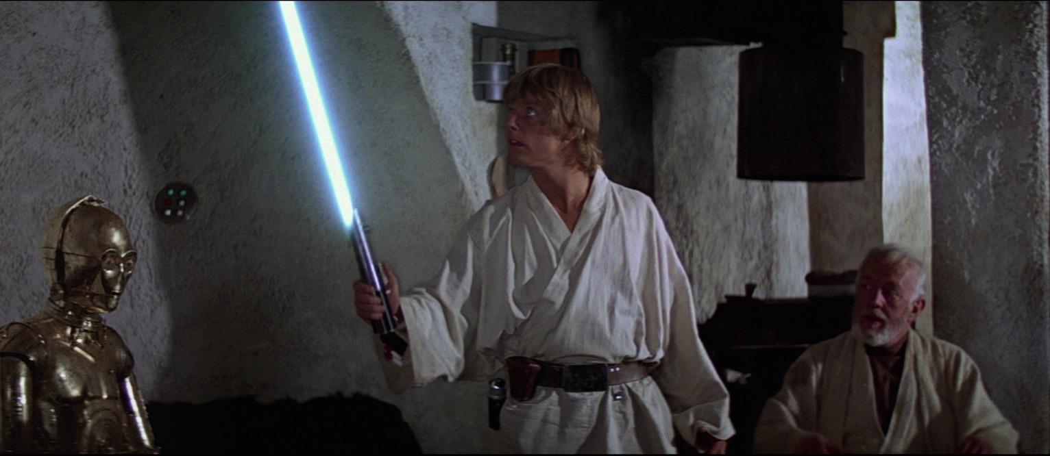 Studying Skywalkers Ep IV - Luke with father's lightsaber