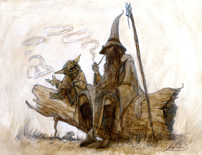 Yoda and Gandalf by Dave Filoni