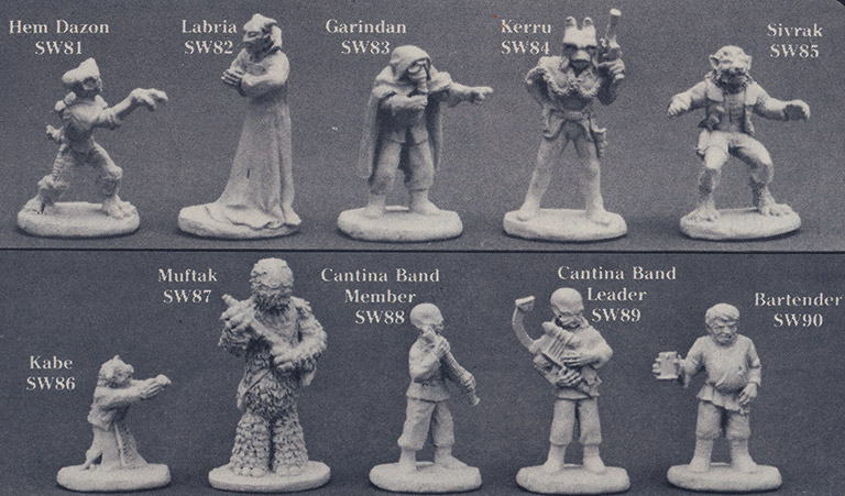 West End Games - Mos Eisley Figure Guide