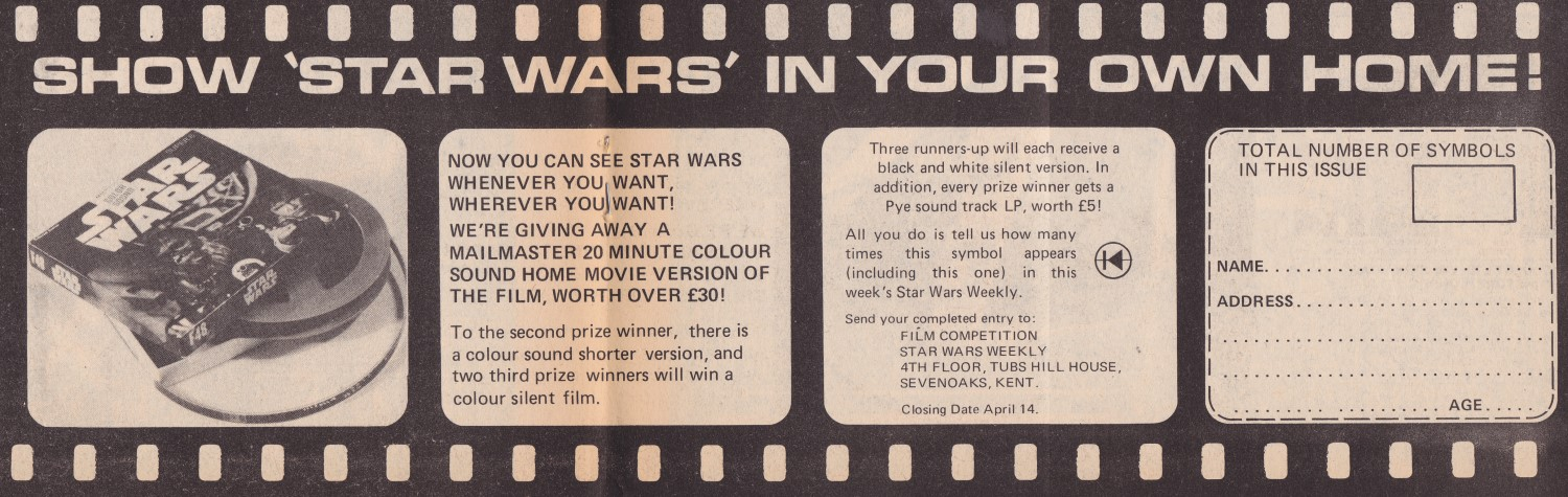 Star Wars Weekly Issue 6 - Star Wars Home Movie Version