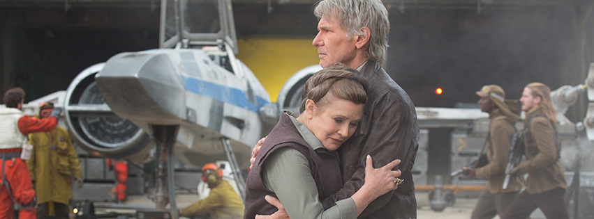 The Force Awakens - Leia and Han Hugging