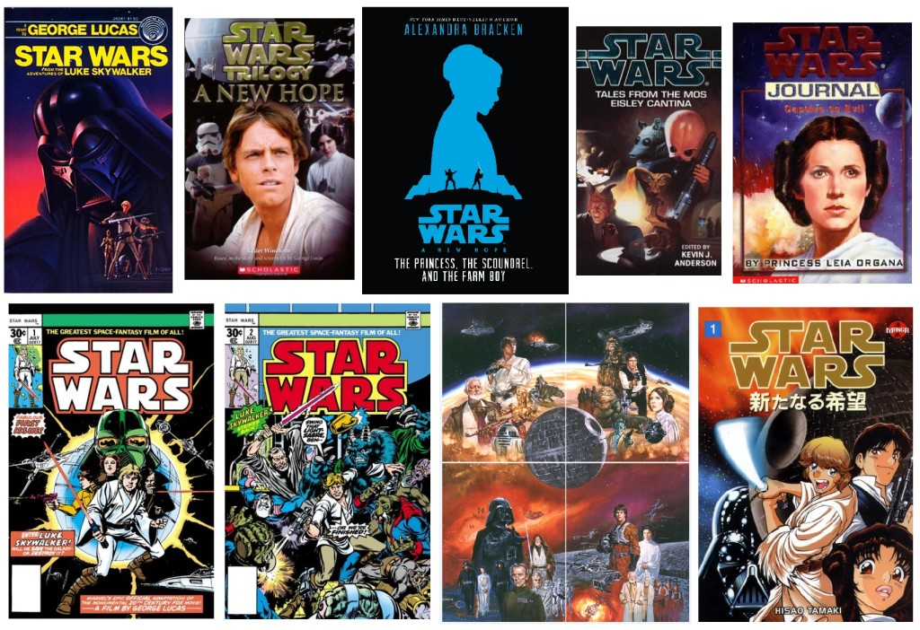 Covers of various A New Hope adaptations