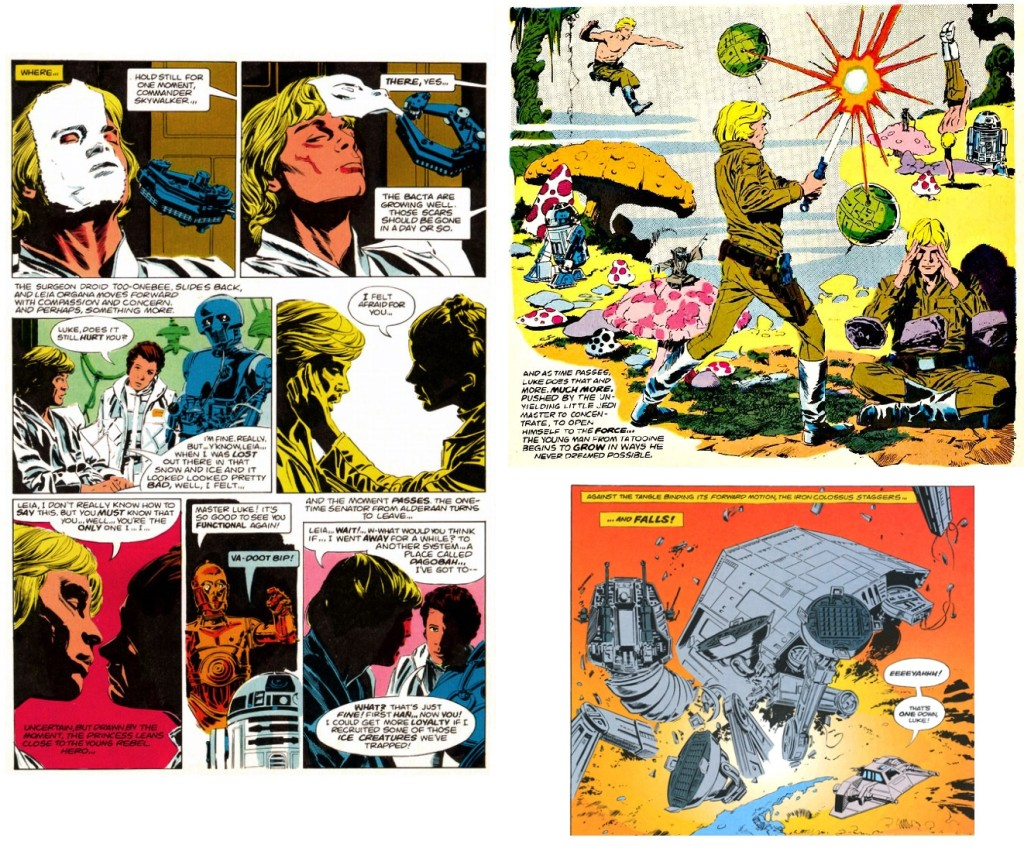 Selected differences from the comic adaptation.