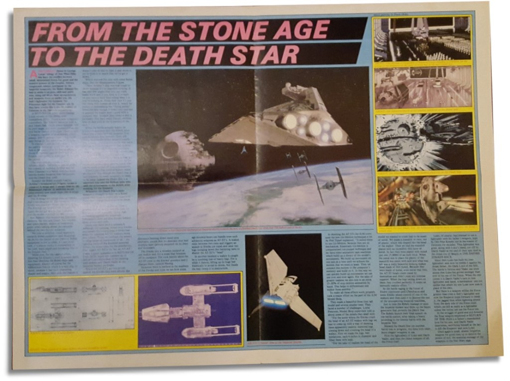 Return of the Jedi Poster Magazine #3 - Death Star article