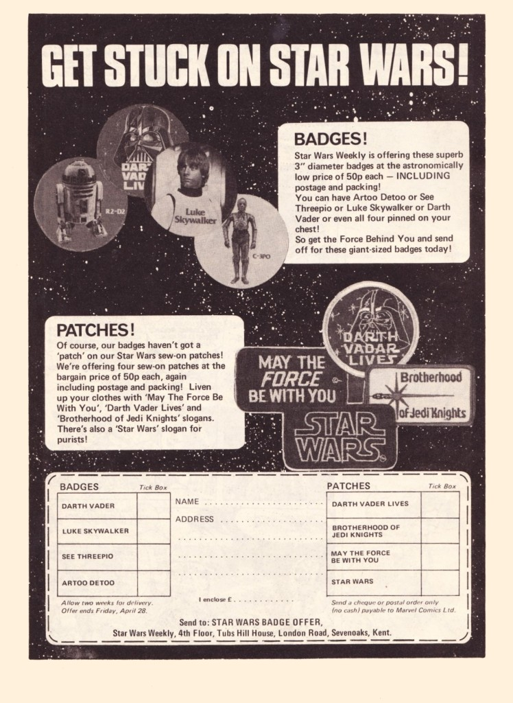Star Wars Weekly #7 Badges and Patches