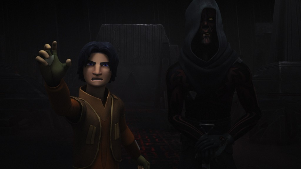 Star Wars Rebels - Ezra opening the doors in the Sith Temple