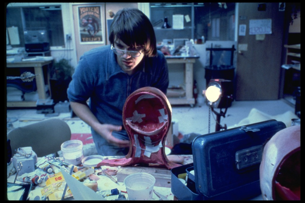Chris Walas working on the melting heads for Raiders of the Lost Ark