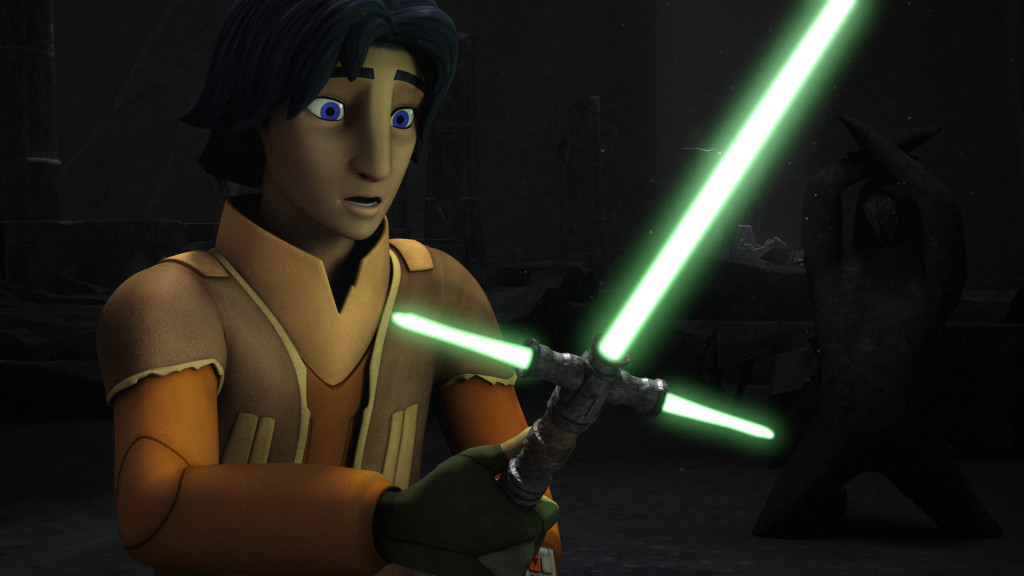 Star Wars Rebels - Ezra with a trisaber