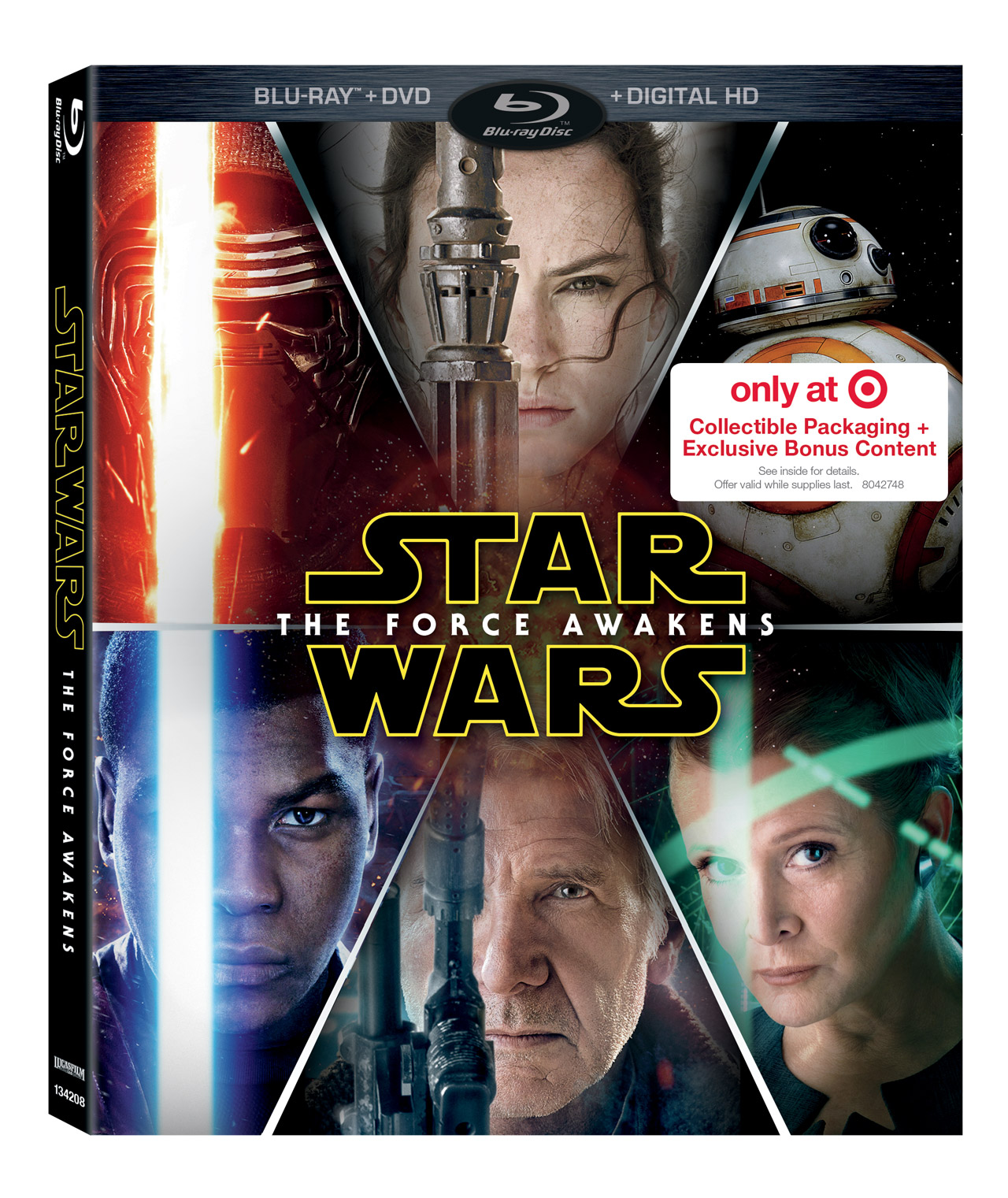 Star Wars The Force Awakens es to Blu ray DVD and Digital