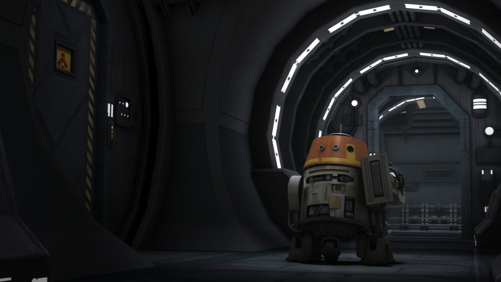 Star Wars Rebels - Chopper with his new leg