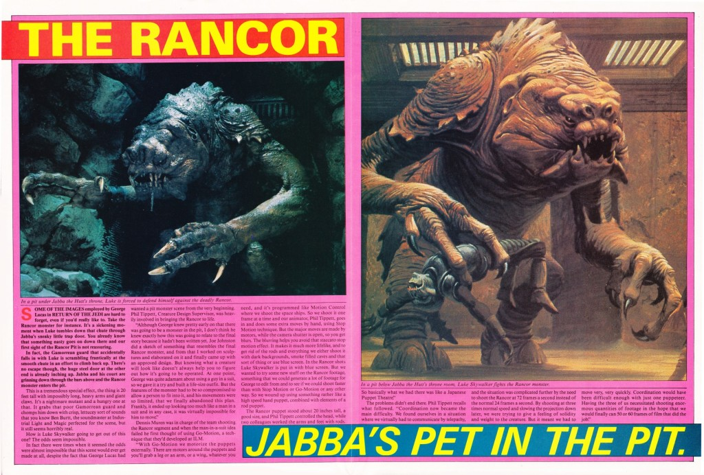 Return of the Jedi Magazine - Rancor