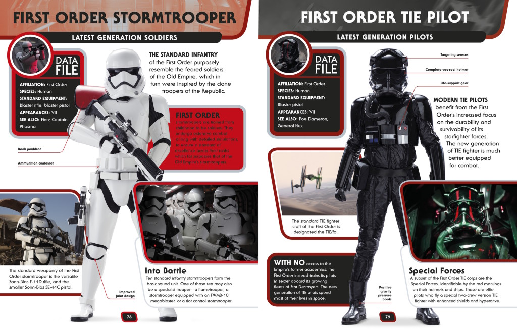 Star Wars Encyclopedia - First Order Stormtroopers and TIE pilots