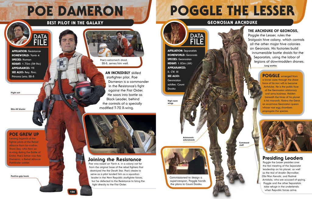 Star Wars Encyclopedia - Poe Dameron and Poggle the Lesser